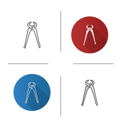 Carpenters end cutting pliers icon vector