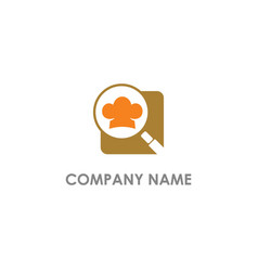 chef hat search document logo vector image