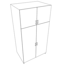 Closed cabinet vector