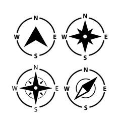 compass logo icon north arrow orienteering vector image