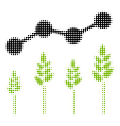 Crop analytics halftone icon vector
