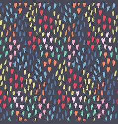 dark pattern with mess of hearts dots and shapes vector image