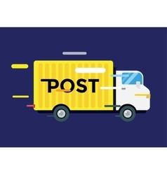 Delivery truck service van silhouette vector image