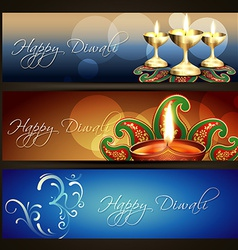 Diwali headers vector