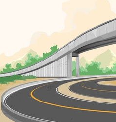 Elevated road on dusk vector