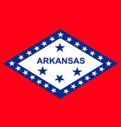 Flag arkansas vector