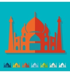 Flat design arabic palace vector