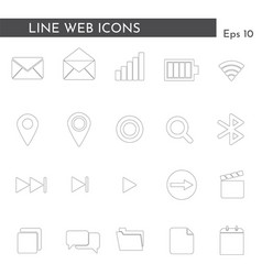 flat web icons 12 vector image