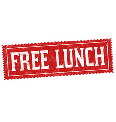 free lunch sign or stamp vector image