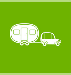 Fun camper icon house on wheels car with van vector
