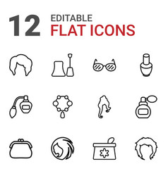 Glamour icons vector