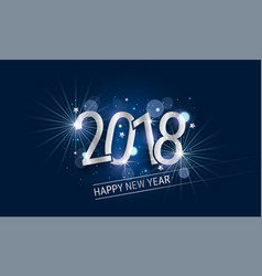 Glowing new year banner with silver inscription vector