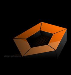 gold pentagonal shape scene vector image