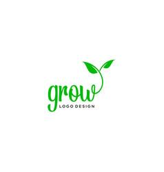 grow logo vector image