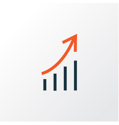 growing stats colorful outline symbol premium vector image