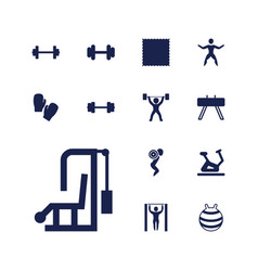 Gym icons vector