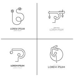 Gymnastics Logotypes vector