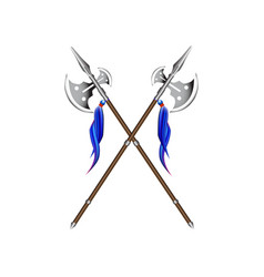 halberds on white vector image