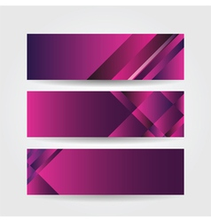 Horizontal purple banners vector