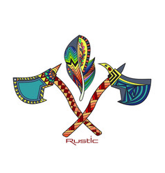 indian national tomahawks vector image vector image