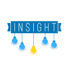 Insight with hanging set colored bulb vector