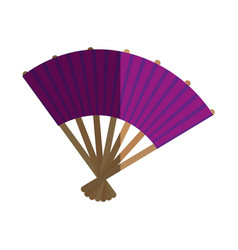 Japanese culture fan icon vector