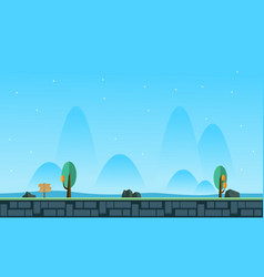 Landscape at morning for game background vector