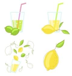 Lemon and lime juice vector