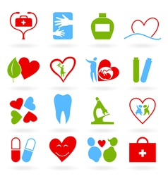 medical themed icons vector image