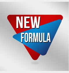 new formula sign or labelfor business promotion vector image