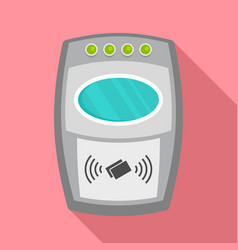 nfc payment wall device icon flat style vector image