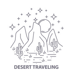 nightly desert template vector image