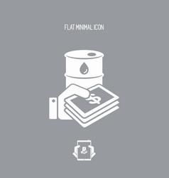 Oil price flat icon vector