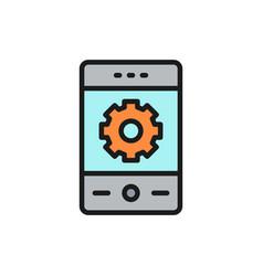 phone with gear smartphone repair vector image