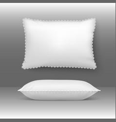 pillows cushion elegant white vector image