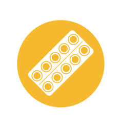 Pills medicine round icon vector