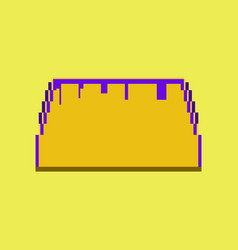 Pixel icon in flat style tacos vector