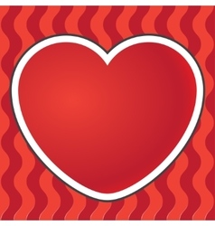 Postcard heart background vector image
