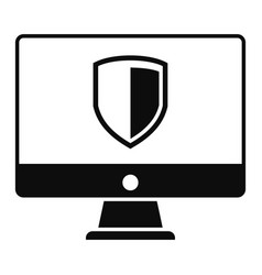 protected computer icon simple style vector image