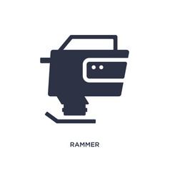 Rammer icon on white background simple element vector