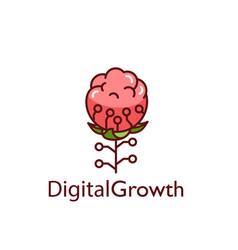 Reasonable digital technology in a flower vector