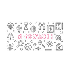research outline horizontal vector image