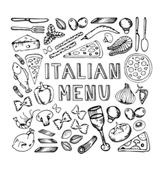 Restaurant cafe italian menu vector