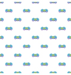 Round soccer stadium pattern cartoon style vector