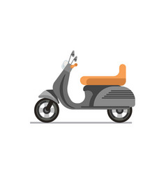 Scooter or motorbike isolated on white vector