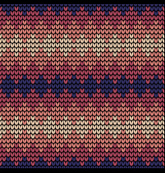 seamless violet squares knitting pattern vector image