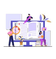Self help books concept vector