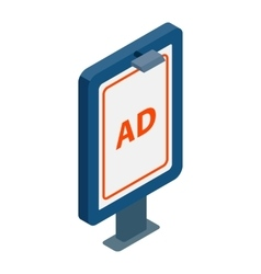 Signboard for AD icon isometric 3d style vector image