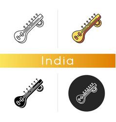 sitar icon vector image