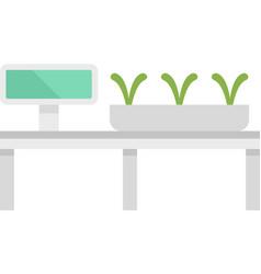 Smart growing plants icon flat isolated vector